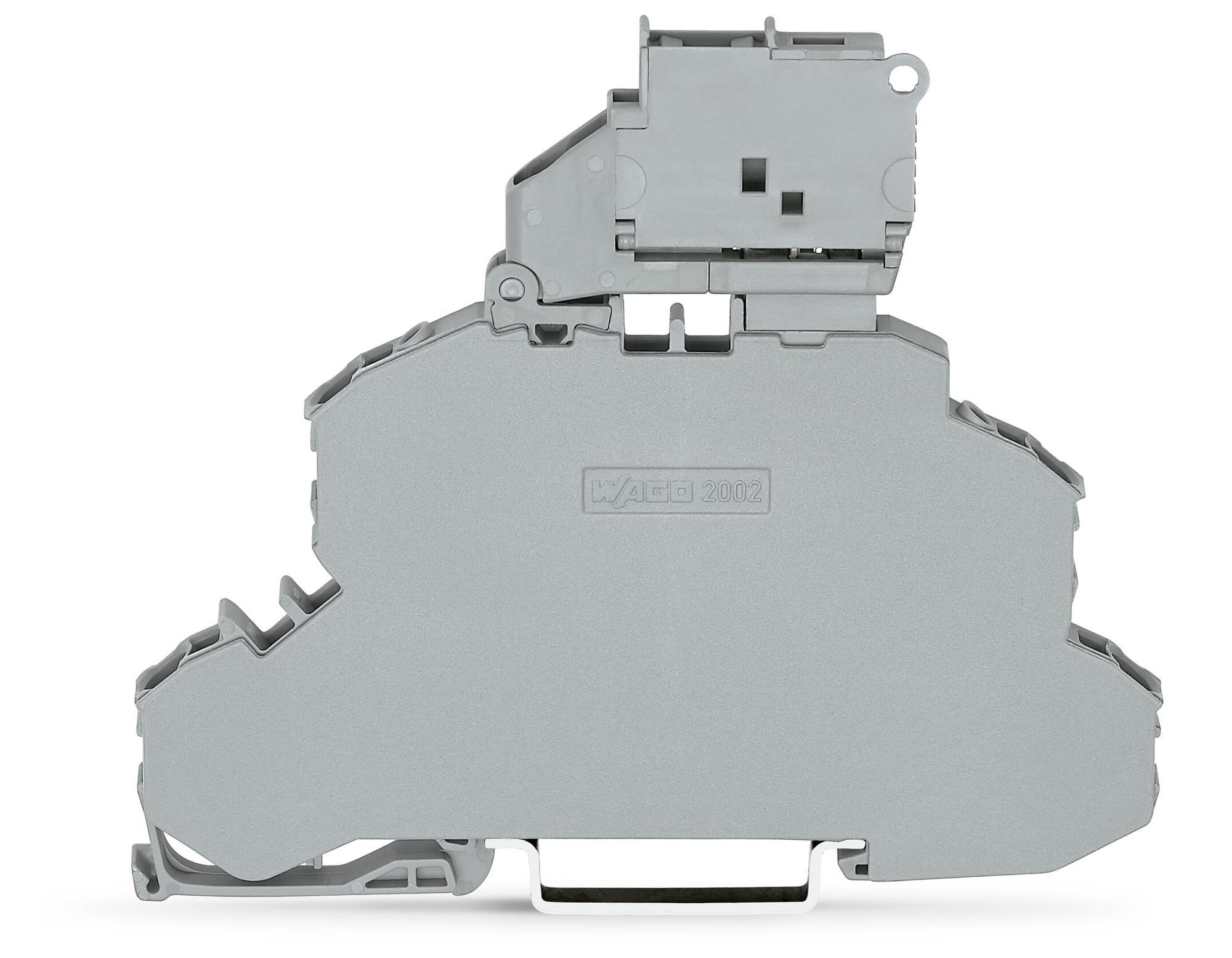 Borne Fusível 2,5mm - 2 Andares - Cinza - S/LED - 2002-2611