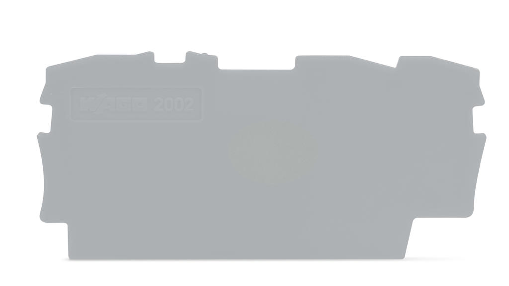 Placa Final para Borne TOPJOB 2,5mm - 3 condutores - Cinza - 2002-1391