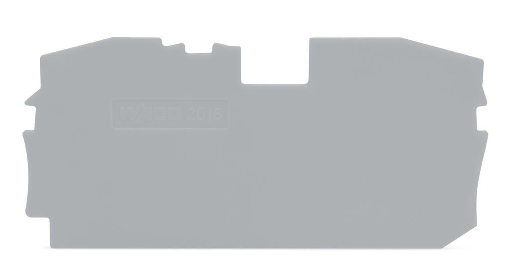 Placa Final para Borne TOPJOB 16mm - cinza - 2 condutores - 2016-1291