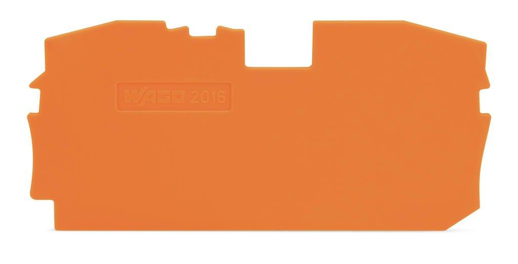 Placa Final para Borne TOPJOB 16mm - laranja - 2 condutores - 2016-1292