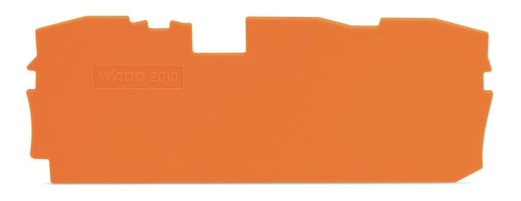 Placa Terminal e Intermediária para Bornes TOPJOBs 10mm - 3 condutores - laranja - 2010-1392
