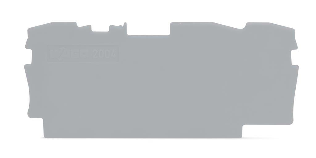 Placa Terminal e Intermediária para Bornes TOPJOBs 4mm - 3 condutores - cinza - 2004-1391