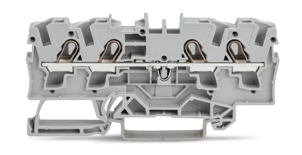 Borne 4mm - 4 Condutores - Cinza - 2004-1401