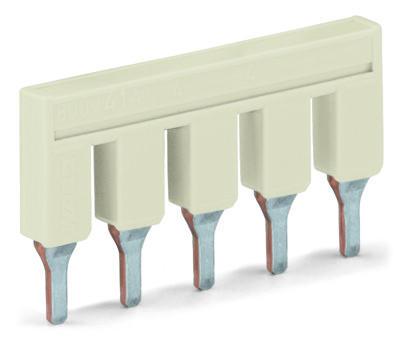 Jumper para borne 6 mm² - 5 vias - Cinza - 2006-405