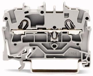 Borne 2,5 mm - 2 Condutores - Cinza - 2002-1201