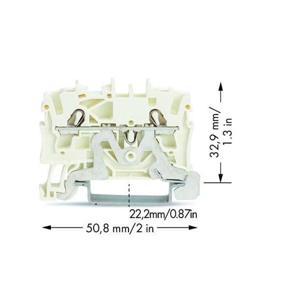 Borne 2,5 mm - 2 Condutores - Shield - 2002-1208