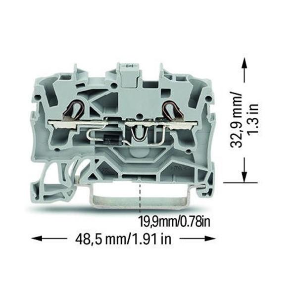 Borne Diodo - 2,5mm² - 2002-1211/1000-410