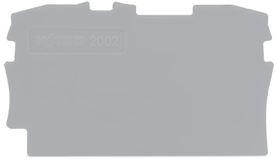 Placa Final para Borne TOPJOB 2,5mm - cinza - 2002-1291