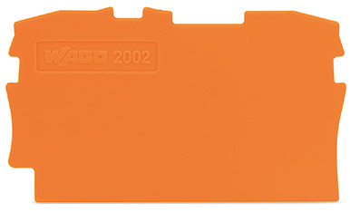 Placa Final para Borne TOPJOB  2,5mm - Laranja - 2002-1292