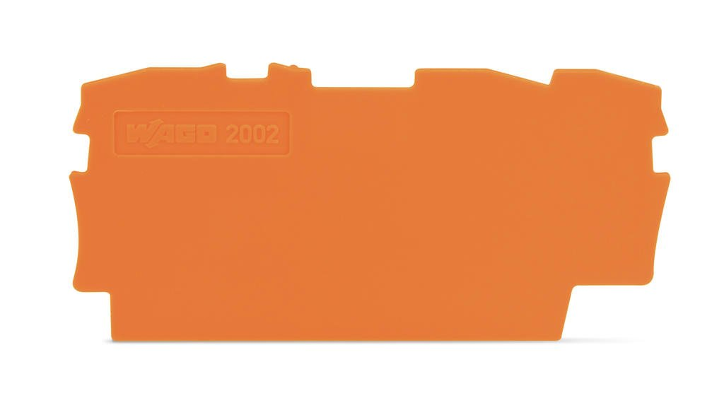 Placa Final para Borne TOPJOB 2,5mm - 3 condutores - Laranja - 2002-1392