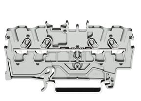 Borne 2,5mm - 4 Condutores - Cinza - 2002-1401