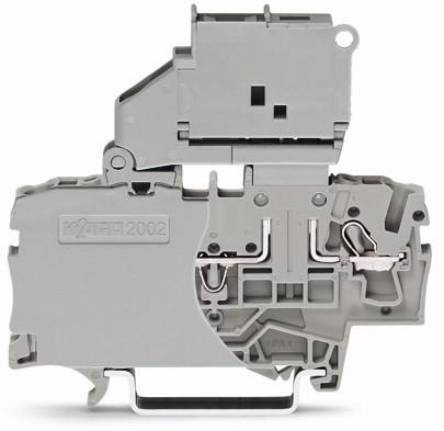 Borne Fusível 2.5mm - 2 Condutores - Cinza - S/LED - 2002-1611