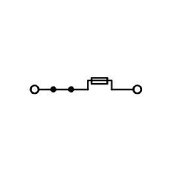 Borne Fusível Lâmina 2.5mm - 2 Condutores - Cinza - 2002-1681