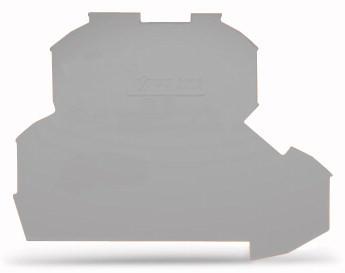 Placa Final para Borne Duplo 2,5mm - Cinza - 2002-2291