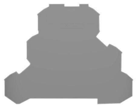 Placa Final para Borne Triplo 2,5mm - Cinza - 2002-3291