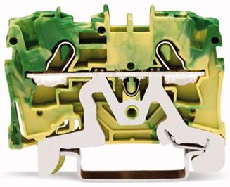 Borne 4mm - 2 Condutores - Terra - 2004-1207