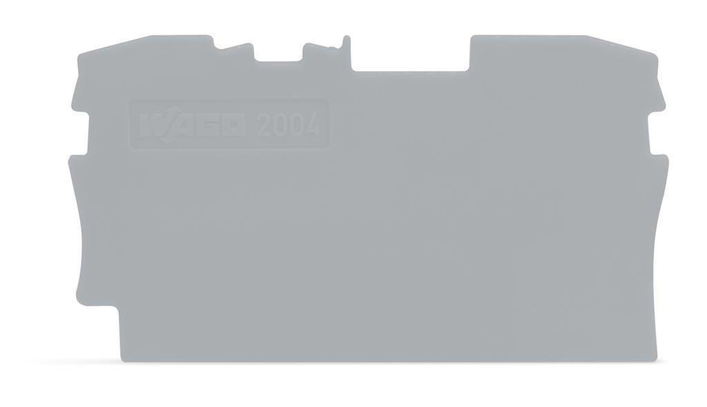 Placa Terminal e Intermediária para Bornes TOPJOBs 4mm - cinza