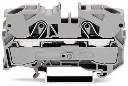 Borne 10mm - 2 Condutores - Cinza -2010-1201