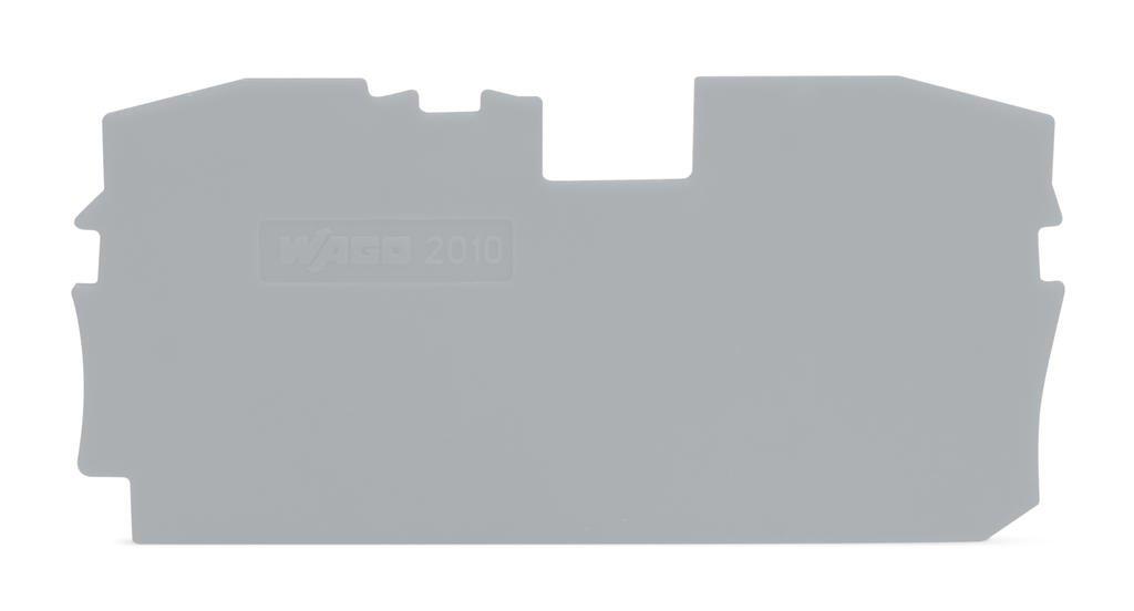 Placa Terminal e Intermediária para Bornes TOPJOBs 10mm - cinza