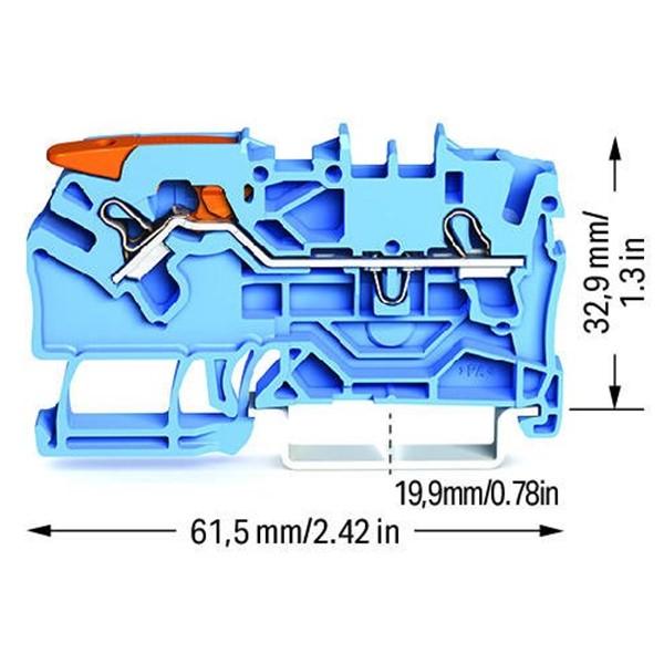 Borne Alavanca 2,5mm - Azul - 2102-1204