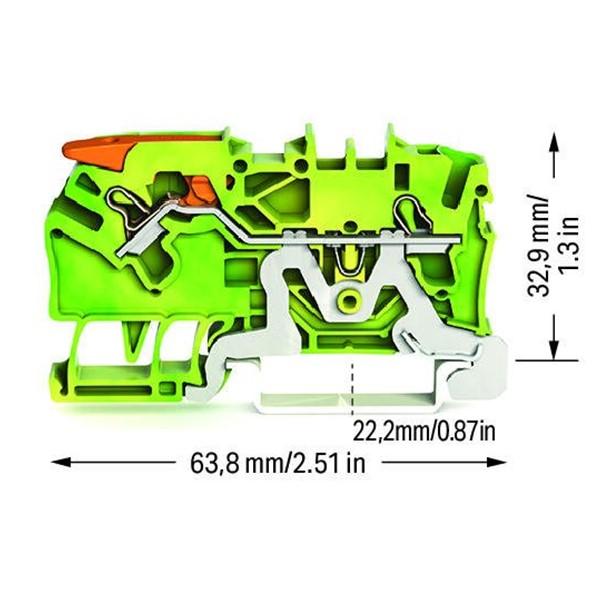 Borne Alavanca 2,5mm - Terra - 2102-1207
