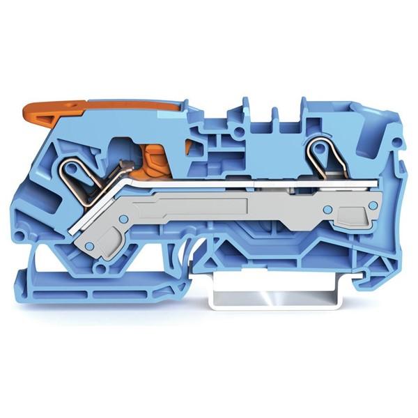 Borne Alavanca 6mm² - Azul - 2106-1204