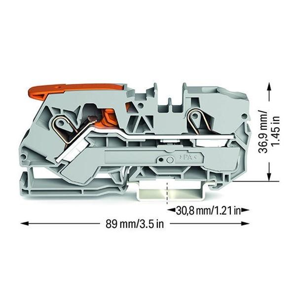 Borne Alavanca 10mm² - 2 Condutores - 2110-1201