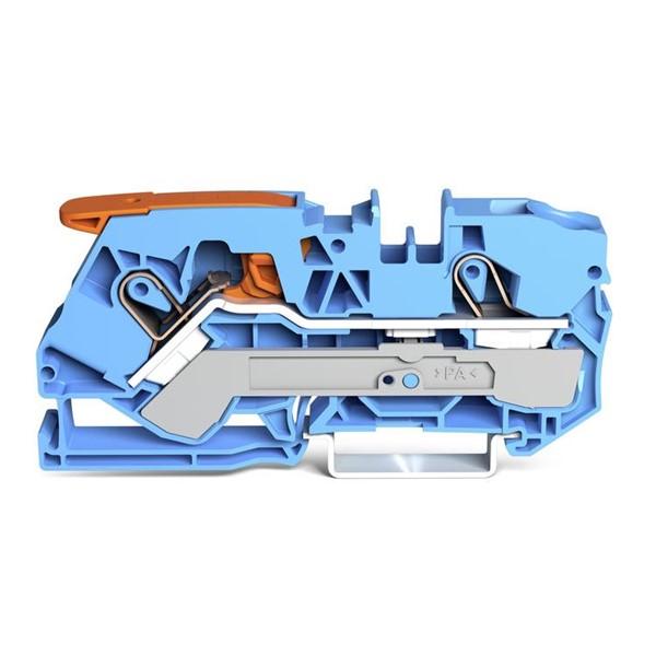 Borne Alavanca 10mm² - 2 Cond. - Azul - 2110-1204