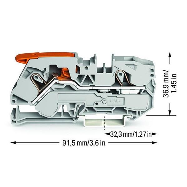 Borne Alavanca 16mm² - 2 Condutores - 2116-1201