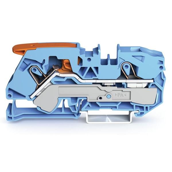 Borne Alavanca 16mm² - 2 Cond. - Azul - 2116-1204