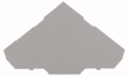 Placa Final para Borne Sensor 1mm - 3 Condutores - Cinza - 280-319