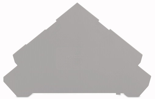 Placa Final para Borne Sensor 1mm - 4 Condutores - Cinza - 280-320