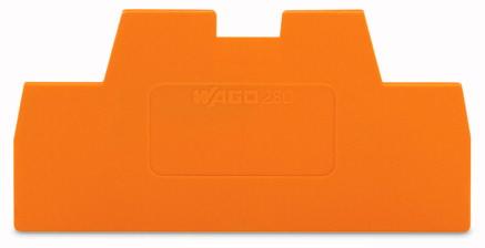 Placa Final para Borne Cage Clamp 1mm - Laranja - 280-366