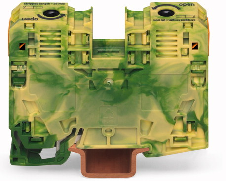 Borne 35mm - 2 Condutores - Terra - 285-137