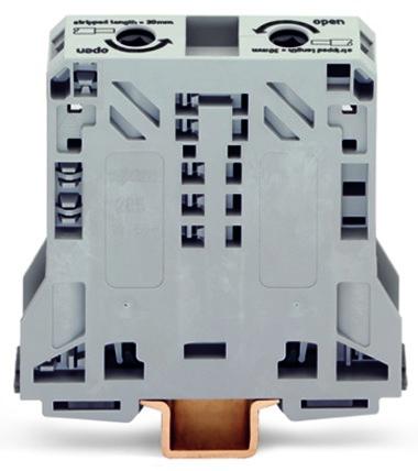 Borne 50mm - 2 Condutores - Cinza - 285-150