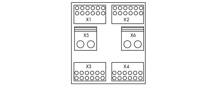 Módulo de Distribuição - 4 Potenciais - 6 Conexões - 288-867