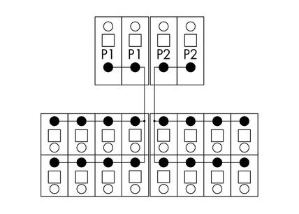 Módulo de Distribuição - 2 Potenciais - 2 Conexões - 830-800/000-305