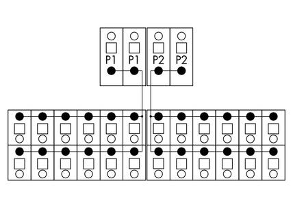 Módulo de Distribuição - 2 Potenciais - 12 Conexões - 830-800/000-306