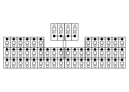 Módulo de distribuição potencial 830-800/000-308