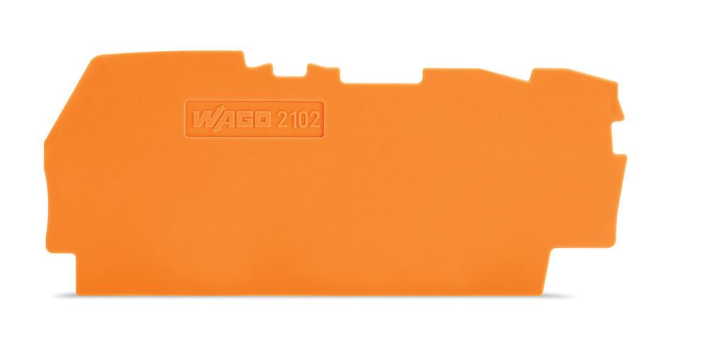 Placa Final para Borne Alavanca 2,5mm - Laranja - 2102-1392