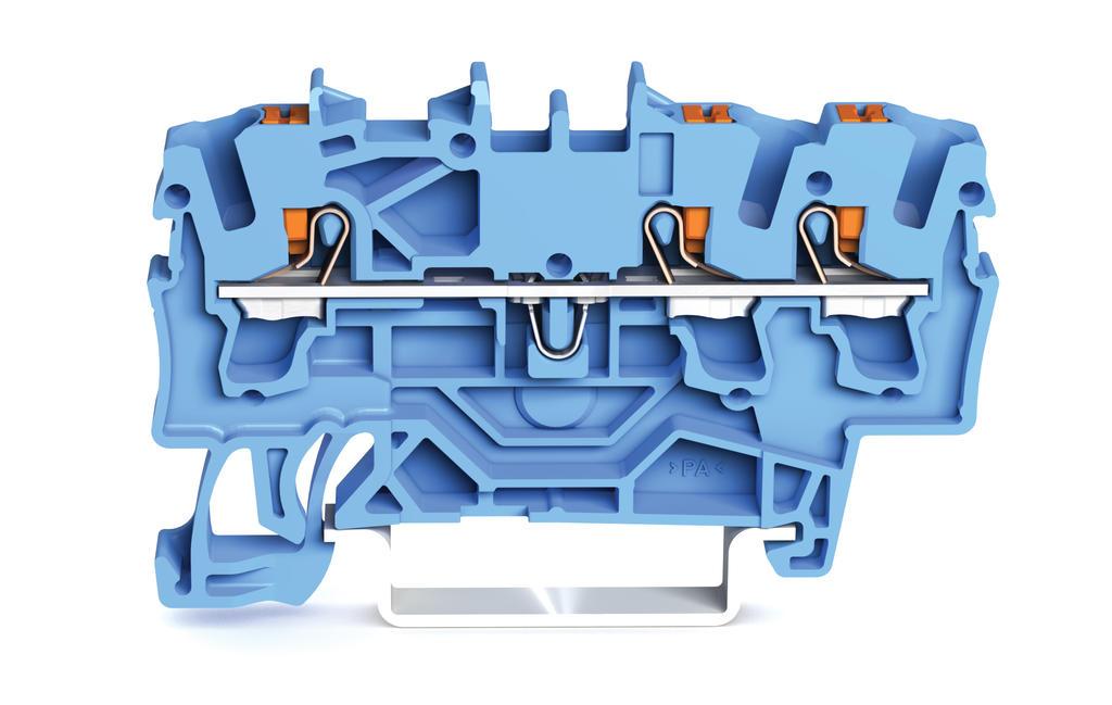 Borne com Botão 2,5mm - 3 Condutores - Azul - 2202-1304