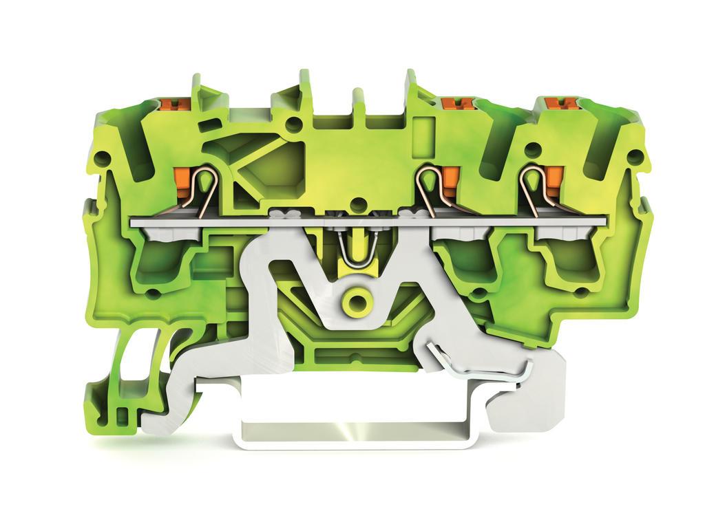 Borne com Botão 2,5mm - 3 Condutores - Terra - 2202-1307