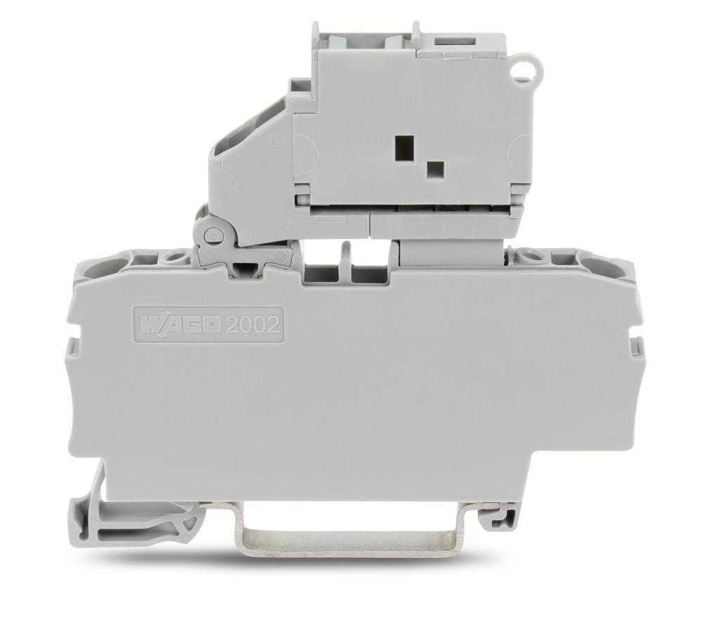 Borne Fusível 2,5mm - 4 Condutores - Cinza - S/LED - 2002-2611