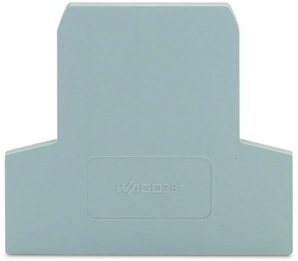 Placa Final para Borne Fusível Seccionável  2,5mm de Espessura - Cinza - 281-311