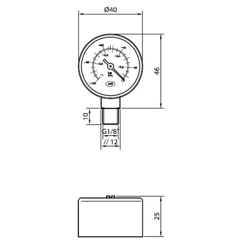VACUOMETRO - COD 047997