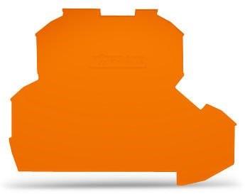 Placa Final para Borne TOPJOB 2,5mm - laranja - 2 andares - 2002-2292