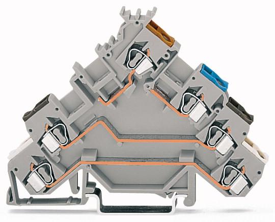 Borne para Solenóide 2,5mm - 3 Condutores - Cinza - C/LED - 280-580/281-434