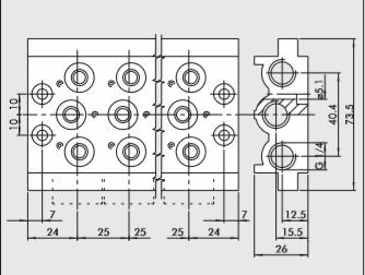 Kit Base 6 posições CVM-18-06 - 223000601
