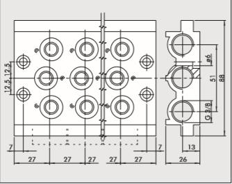 Kit Base 4 posições CVM-14-04 - 224000401