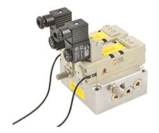 Válvula de segurança dupla ISO 5599/1 -  1/4 - Sensor 2.5m 3 fios